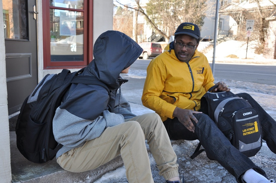 Homeless Youth With Outreach Worker