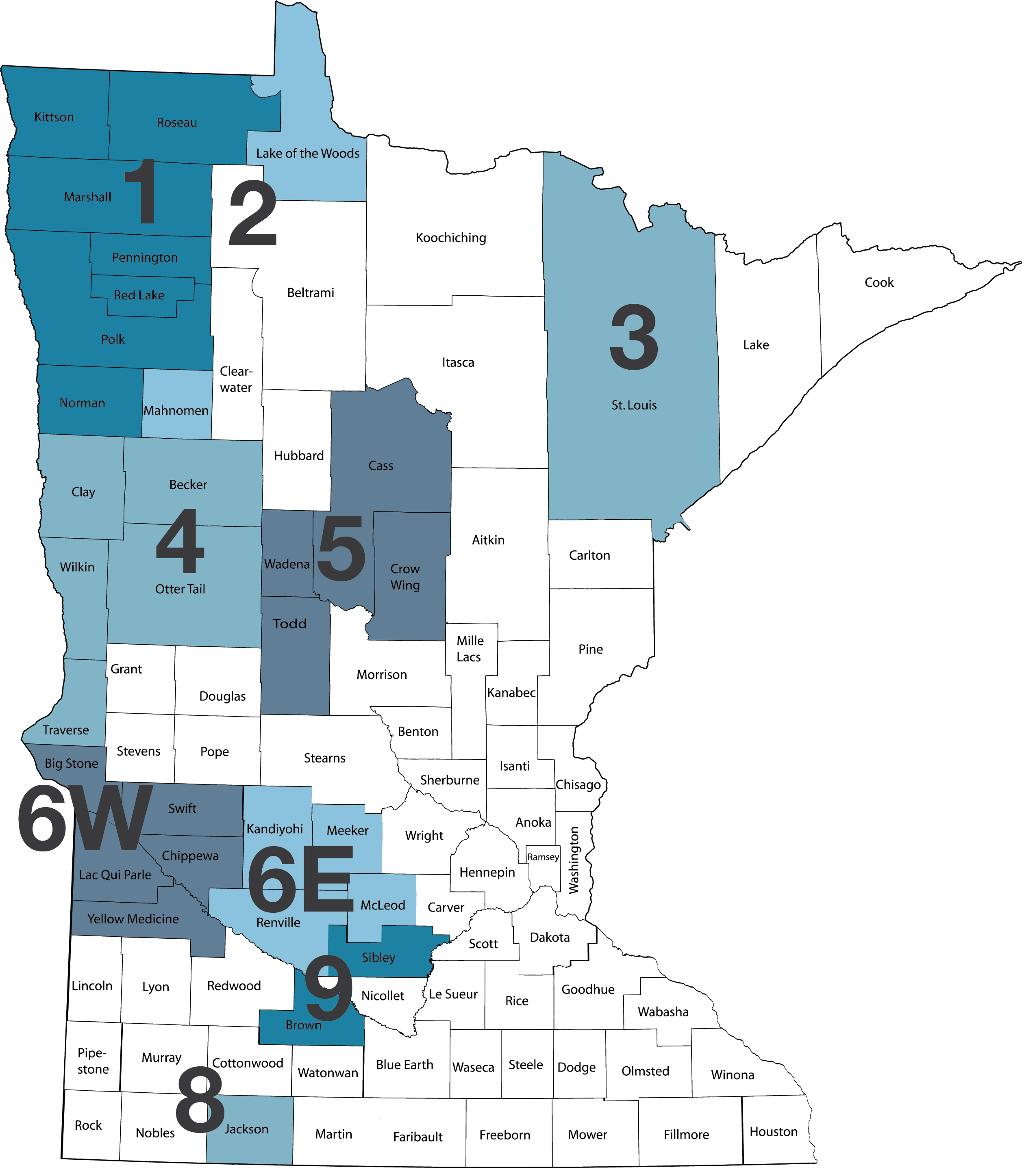 Caregiver MN Map