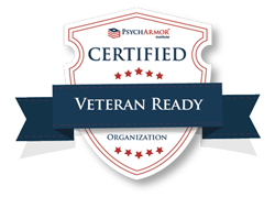 PsychArmor Institute certified veteran-ready organization seal