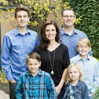photo of host home providers, the Nordby Family